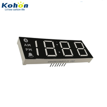 Blue 460 470nm White 12000K dual color 3.5 digit 7 segment led numeric display 0.8 inch for alarm clocks