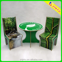 Paper display table/ corrugated cardboard furniture/ paper chair