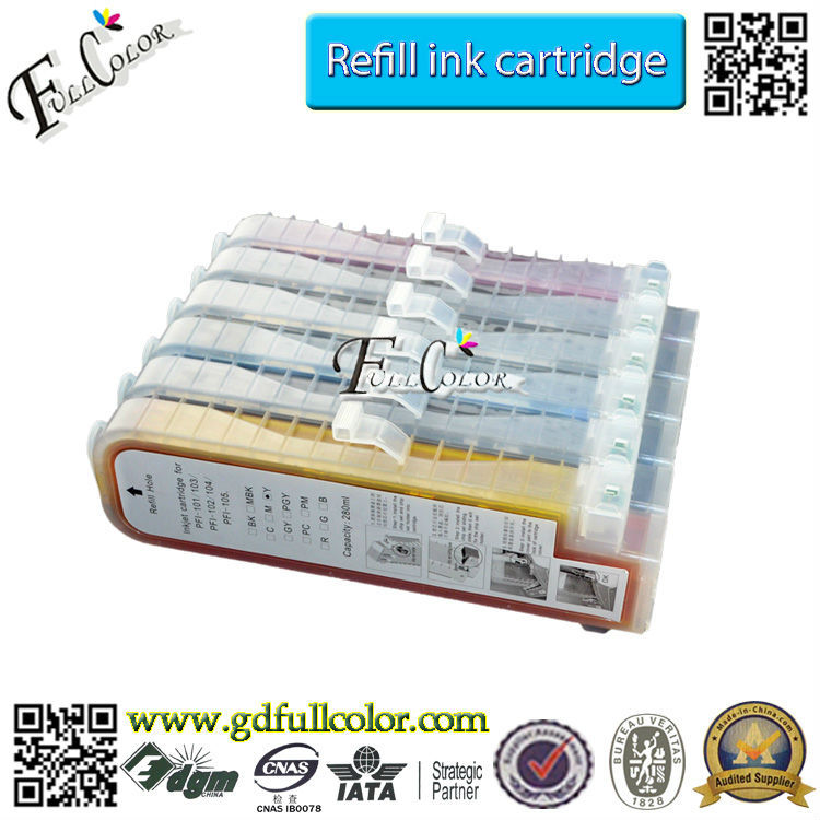 PFI-<strong>101</strong> / PFI-103 Refillable Ink Cartridge For CAN0N IPF6100 / IPF5100 Online