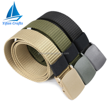 2017 New Style Men's Outdoor Sports Military Tactical Nylon Waistband Canvas Web Belt Dazzling
