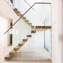 2017 fantastic design customized indoor wooden diy floating staircase