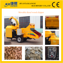 movable diesel wood log chipper or portable wood chipper in different capacity manufacturer