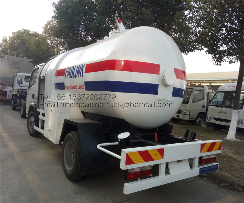 Cheap mini 5 cubic meters lpg slimming machine lpg gas filling machine refueling truck for sale