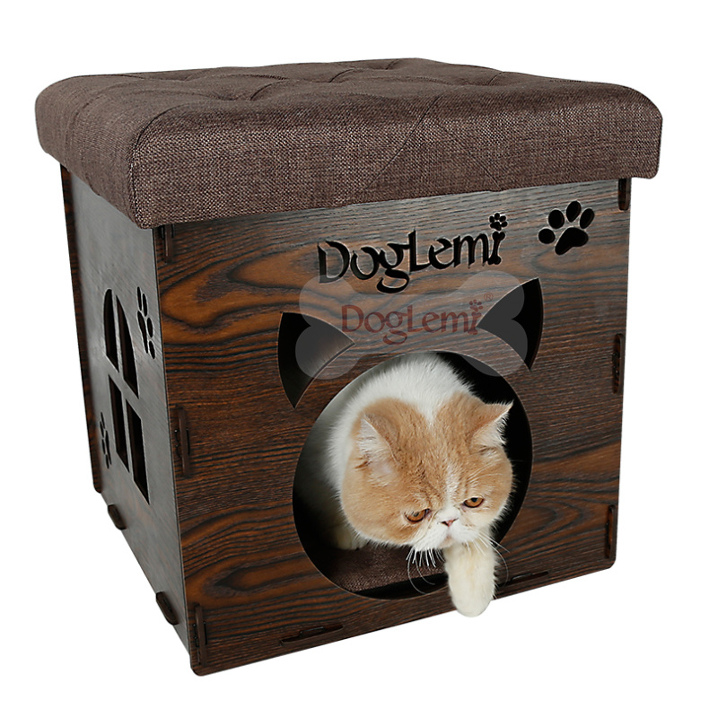 2017 DogLemi New Patented Product house chair Wooden Pet Cat Bed
