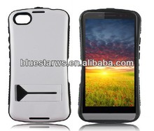 Hybrid Color Double Dual Layer Tough Soft Silicon Gel/hard PC W/kick Stand Shock Dust Drop Proof case for blackberry A10