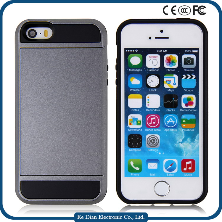 13 Color Available Clear TPU Silicone Bumper Frame Pone Case W/ Metal Buttons for iPhone5 5G 5th