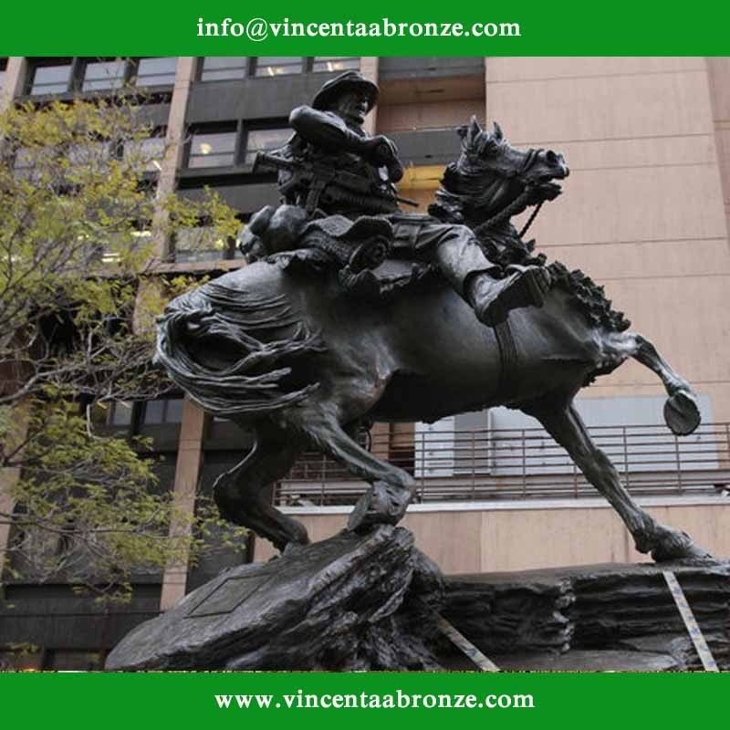 horse soldier statue new york