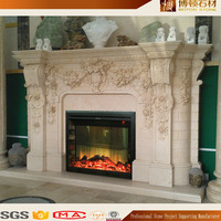 Hand Carved Stone Fireplace Mantel Fireplace