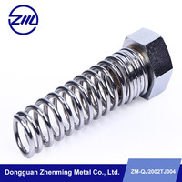 high precision strong spring and hex screw nut , cnc lathe metal part ,washing machine spare part