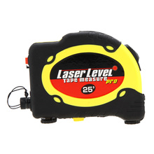 LV-07 Pro 3 Laser Level 7.5m Measuring Tape Equipment with 2 Way Level Bubbles and Laser Power On/Off nivel laser