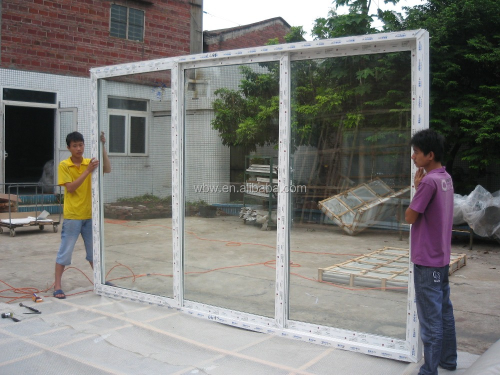 Three fan LG114 sliding door series, window can be opened at the same time in one direction