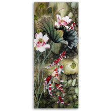 Koi shannonn--100% Hand Painted Traditional Chinese Painting Animal Fish Swimming Wall Art High Quality 051621