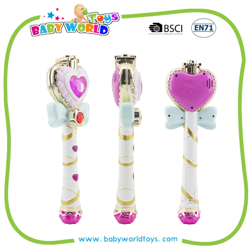 Automatic Bubble Magic Wand Flashing magic bubble stick toy with music and light