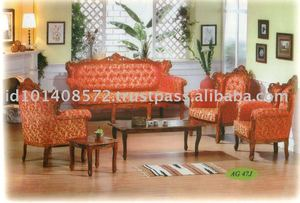 Teak Sofa Set Classic Design New Royal Set Indoor Furniture