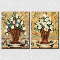 Best quality flower vase painting designs wall hangings pictures
