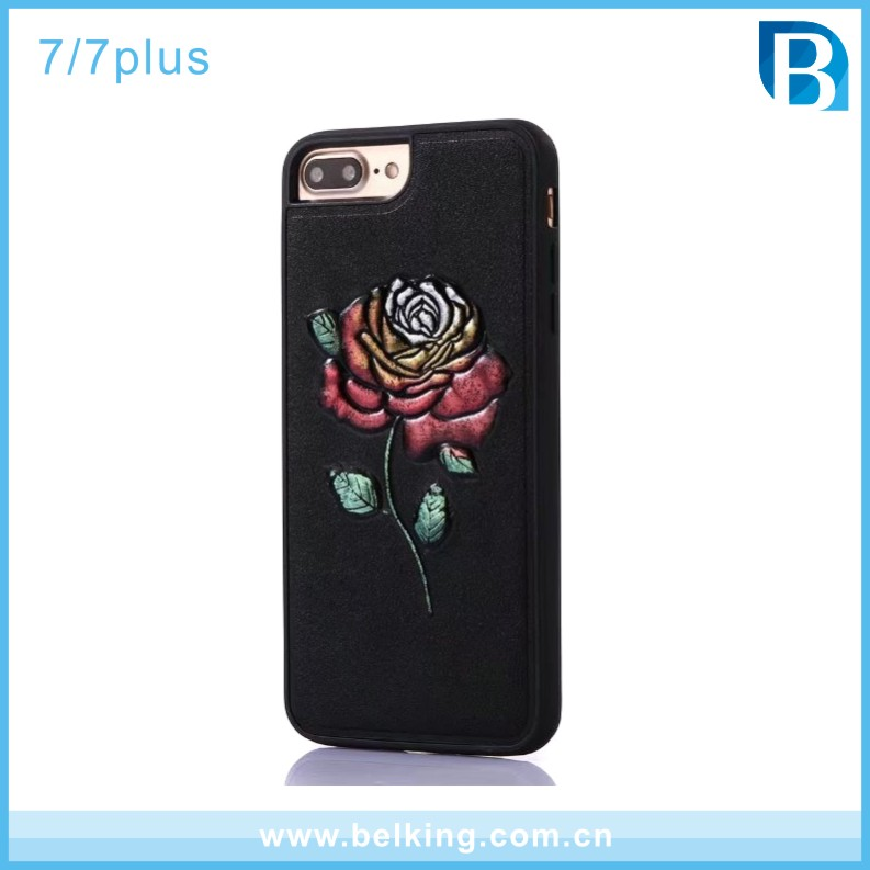 FORK ART 3D Painting TPU Mobile Phone Case Cover for iPhone 7 plus , for iPhone 6S case Rose