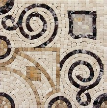 High calss manor bathroom design broken stone mosaic craft tiles