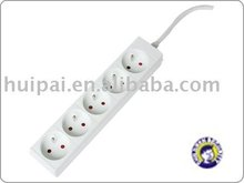 socket of french type PP material Extension socket with white colour , good price of Extension socket