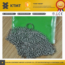 2014 new SS316L Stainless Steel Chainmail Scrubber For Pans And Woks