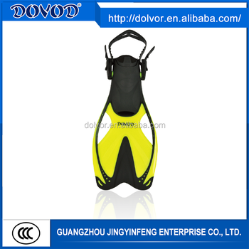 Water sports use high performance diving equipment open-heel swimming fins