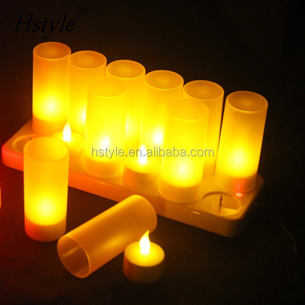 Rechargeable Led Flameless Candles Tealight Candle With Base SNL096