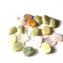 mixed color tumbled stone