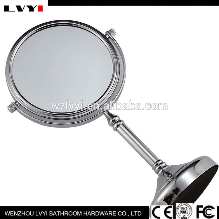 Latest product fashionable wood hand mande pocket cosmetic mirror with good offer