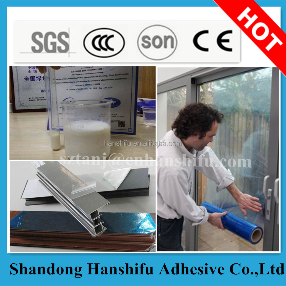 Water based Acrylic adhesive/emulsion/glue for Protective Film