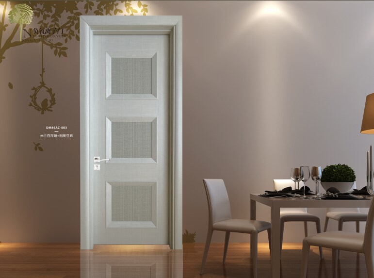 Goldea new style solid wooden carved picture french door frames