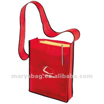 non woven sling bag with one continuous handle extending up from sides