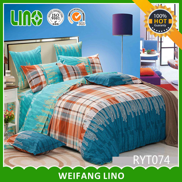 family bed cover/quality cotton bed sheet/printed duvet cover uk