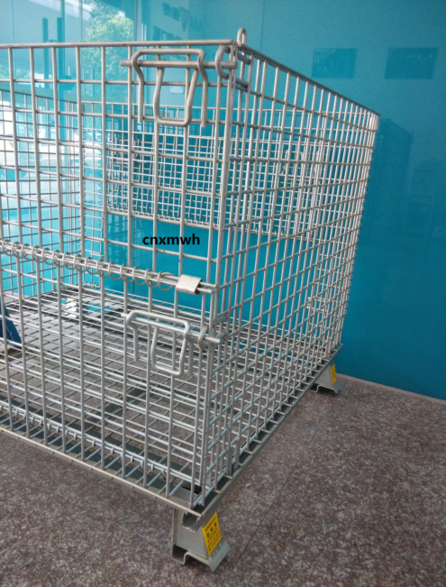 Industry Warehouse Forklift Metal Wire Mesh Storage Container 800*600*640