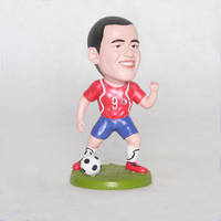 Durable customize sport soccer bobbleheads