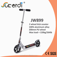 Aluminum 2 wheel scooter, 200mm adult kick scooter, scooter pedal adult