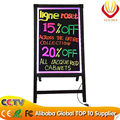 Writing slate board LED writing sign board with tempered glass best for shop promotion