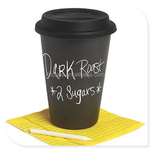 16oz black hot coffee paper cup with lids
