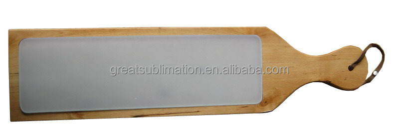 sublimation printable Glass Bread Board with wood