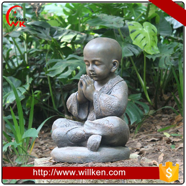 Large Stone color Shaolin Monk statue for garden decor