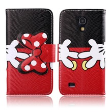 For Samsung Galaxy S4 Mini Case, PU Leather Wallet Case Cute Bow-knot Flip Cover Folio Stand for Samsung Galaxy S4 Mini Case
