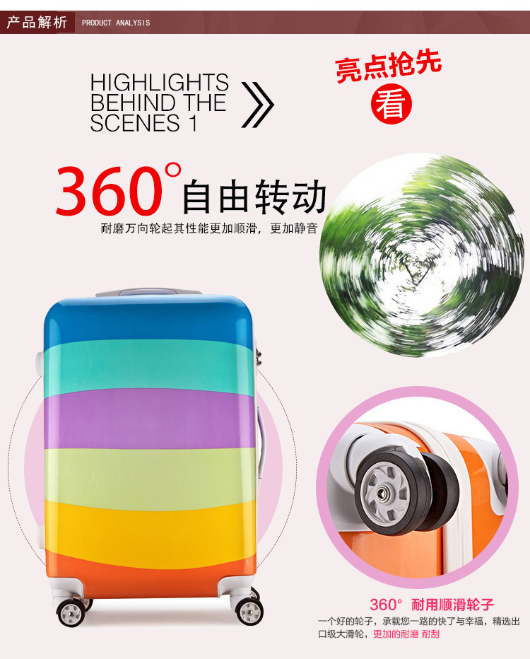 Cartoon Travel Rolling Luggage Spinner Wheels Kids Suitcase Carry On 20 24 Inch Business Airplane Trolley Luggage (3)