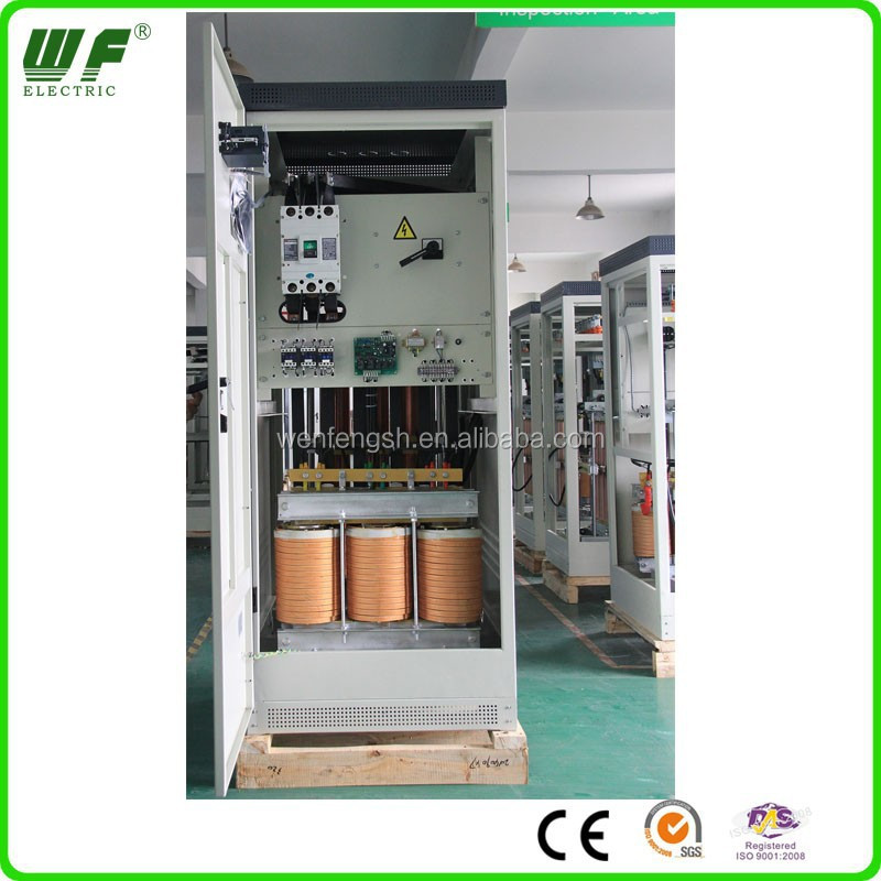 energy saving 3phase carbon brush compensated voltage regulator 320kva