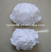 Wholesale Ribbon with Lace cotton Baby bloomers