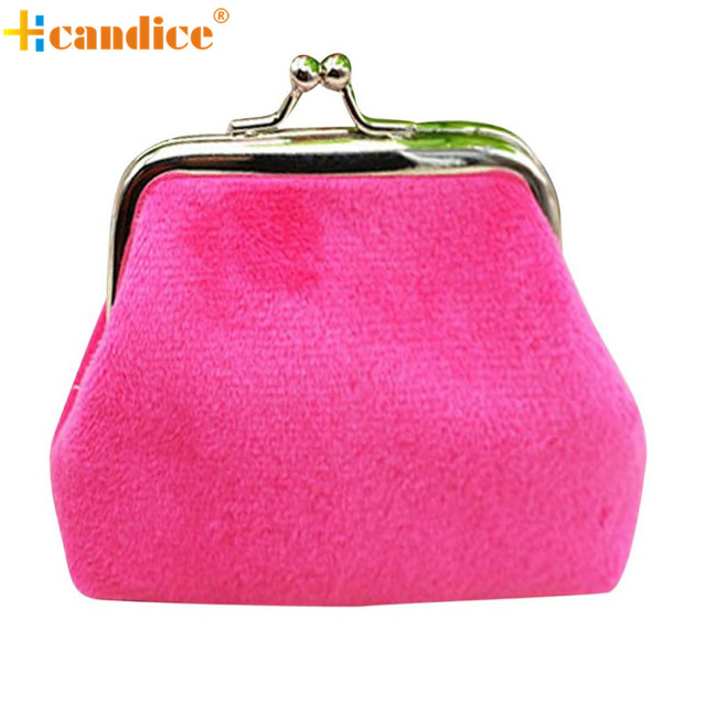 Naivety 2016 New Fashion Lady Corduroy Mini Wallet Holder Woman Coin Purse Clutch Bag JUL4 drop shipping