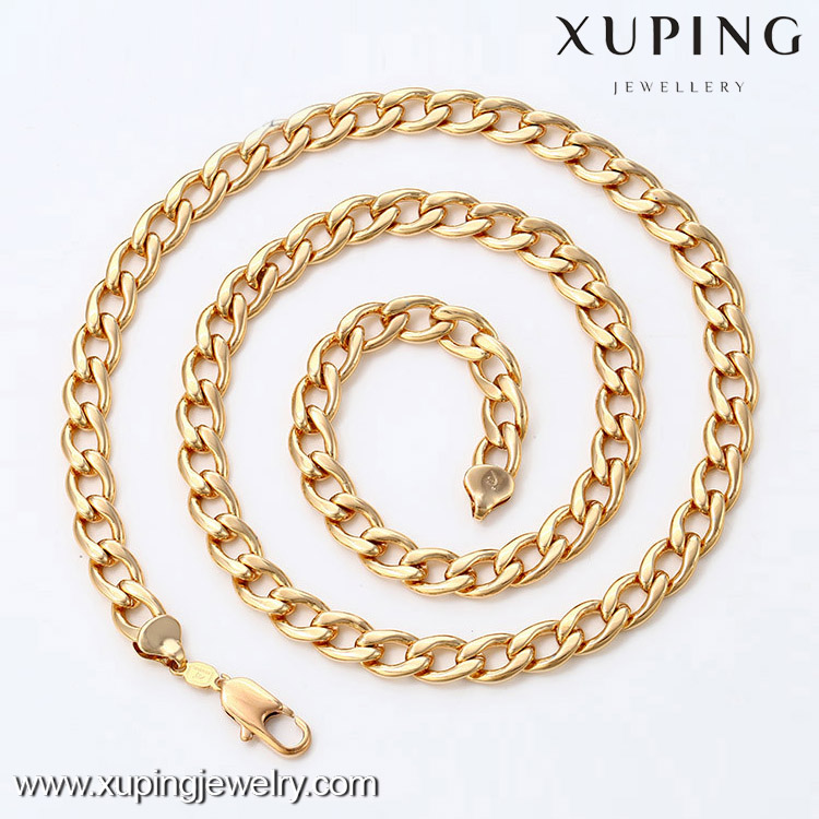 42335- Xuping Men Fashion Necklace With 18K Gold Plated