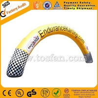 air tight inflatable arch or constant air blown available F5019