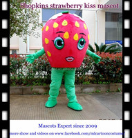 2016 cartoon toys character costume shopkins stawberry mascot