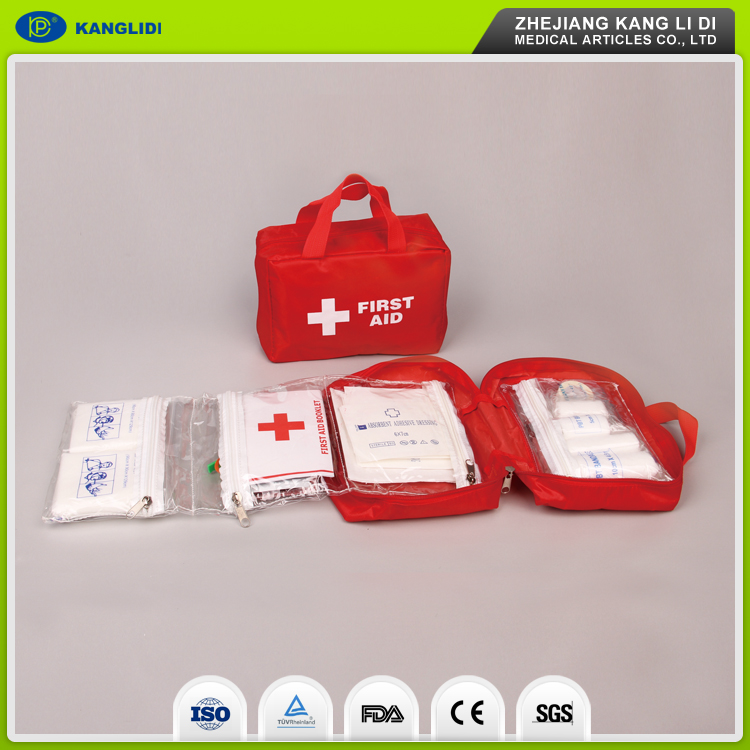 KLIDI 2016 New Arrival Basic Emergency Bicycle Bus First Aid Kit Sets OEM Approval