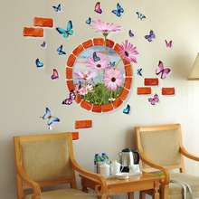 Custom removable PVC bedroom baby room decor kids 3d butterfly wall stickers