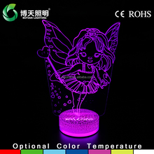 wholesale factory price 3d kids auto changing night light