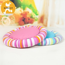 Wholesale Made In China Warm Bed Round Mat Plush Soft Pet Dog Bed Fleece Fold Pet Dog Mat Cushion